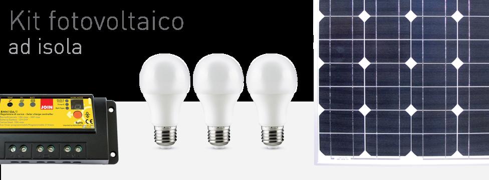 Kit fotovoltaico ad isola